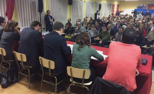 Miembros del equipo de Gobierno, en la Asamblea de Las Batallas