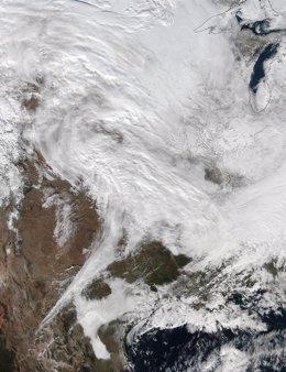 Tormenta de nieve sobre Washington
