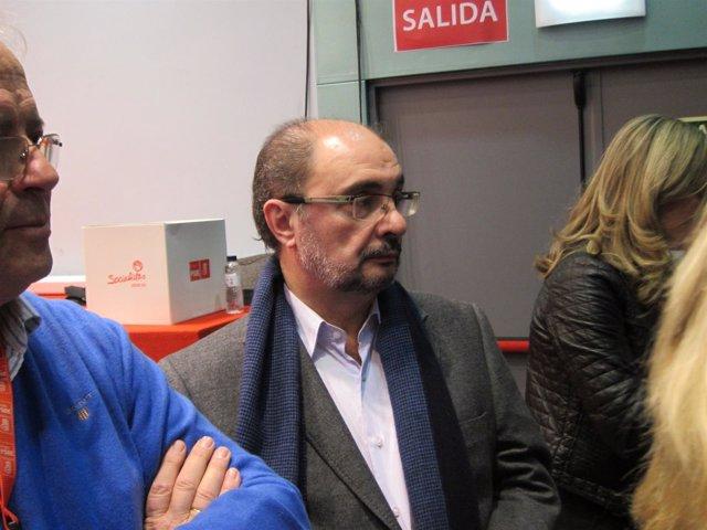 El secretario generla del PSOE-Aragón, Javier Lambán