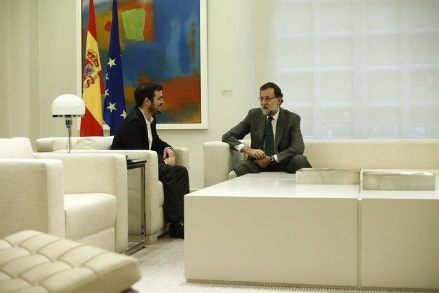 Rajoy recibe a Alberto Garzón en Moncloa