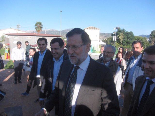Mariano Rajoy com Juanma Moreno, José Antonio Nieto y Fernando Priego