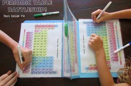 Convierte la tabla periódica en un juego de batallas para enseñársela a tus hijos