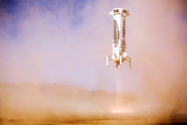 El cohete New Shepard de Blue Origin