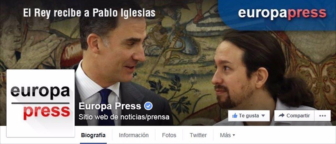 Las 21 cuentas de Facebook de Europa Press