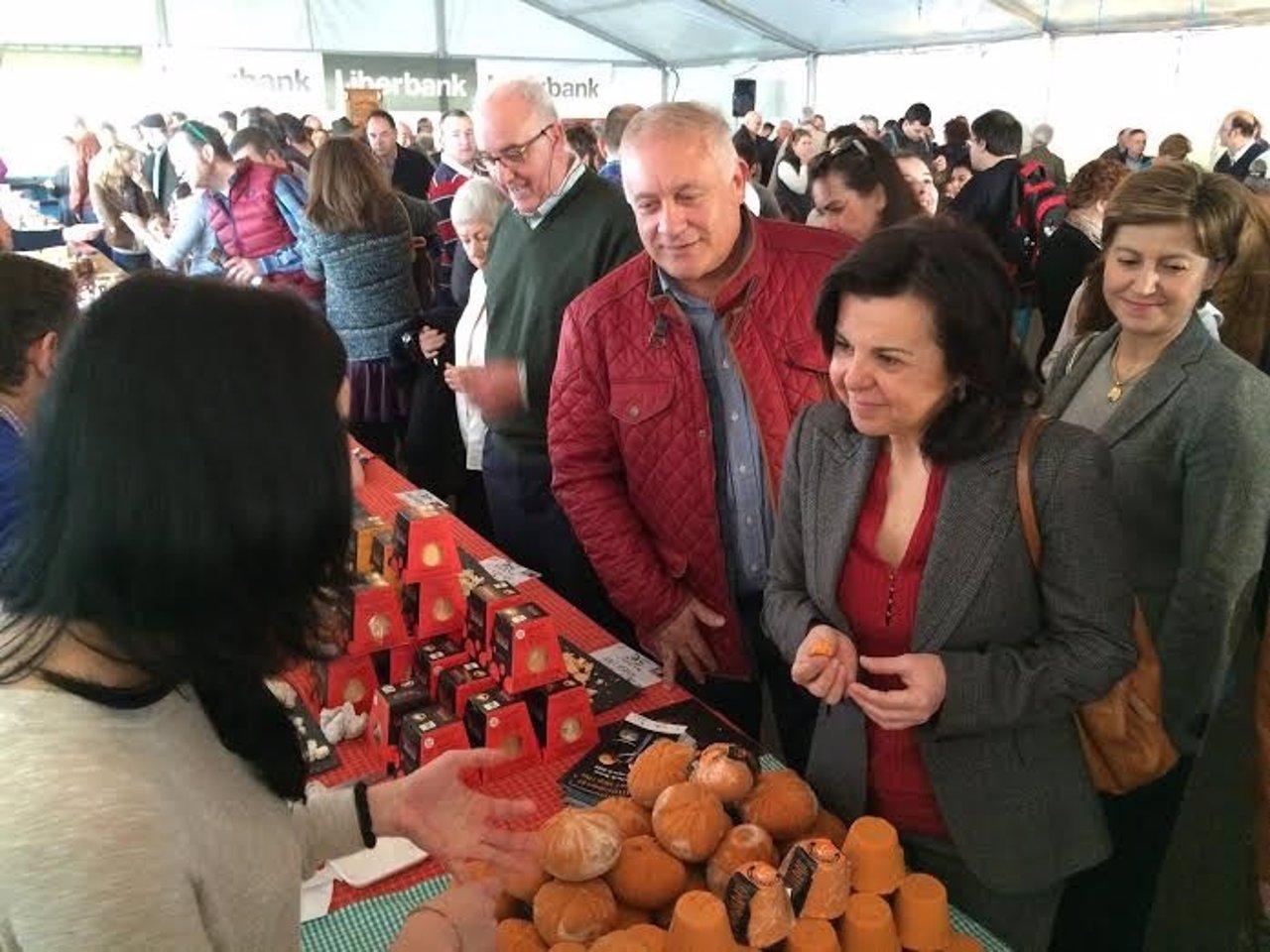 María Jesús Álvarez, en el certamen del queso Afuega'l Pitu