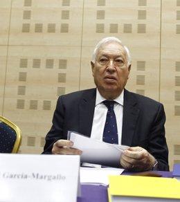 José Manuel García Margallo en la presentación de un libro
