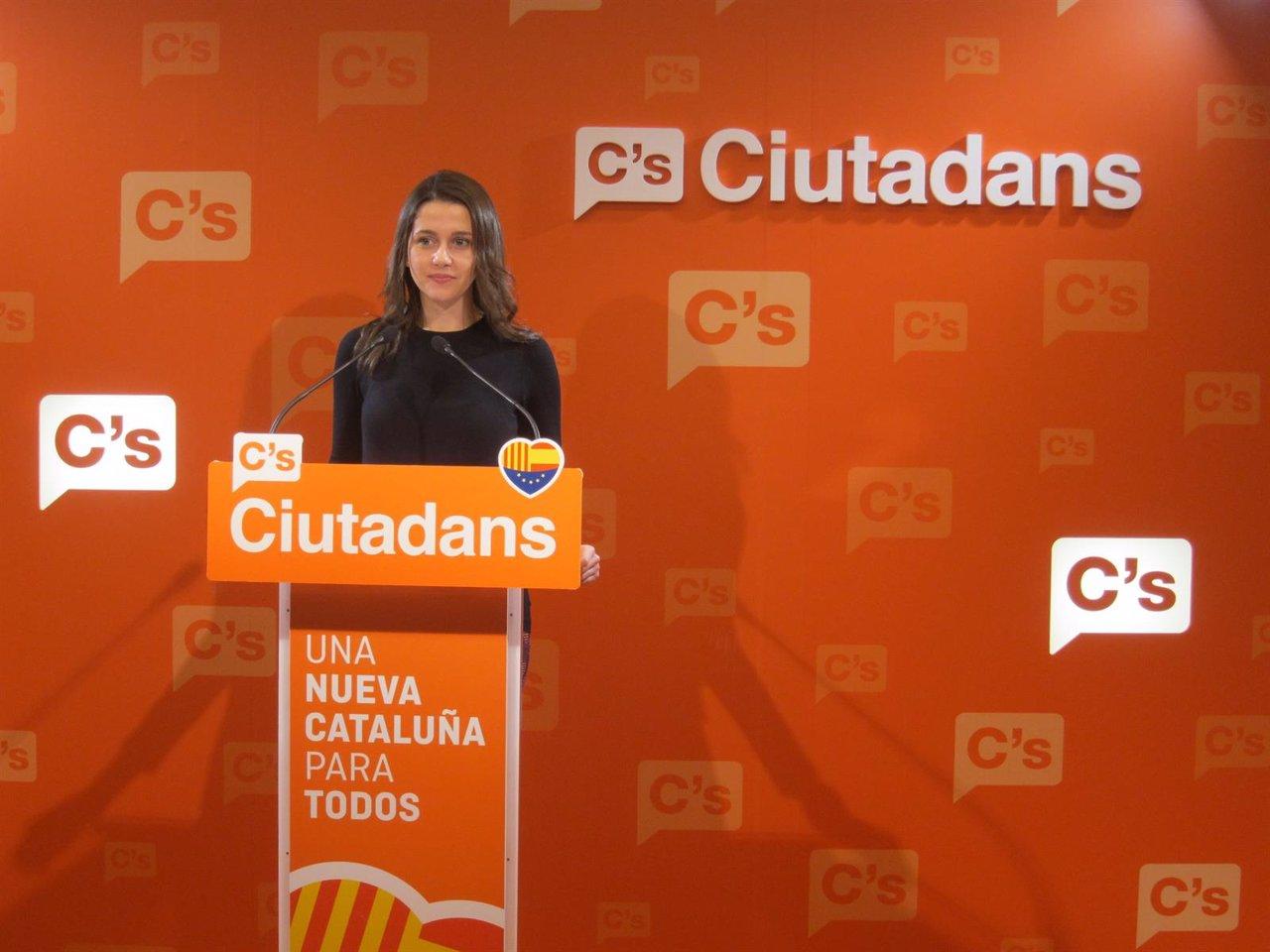 La líder de C's en el Parlament, Inés Arrimadas.