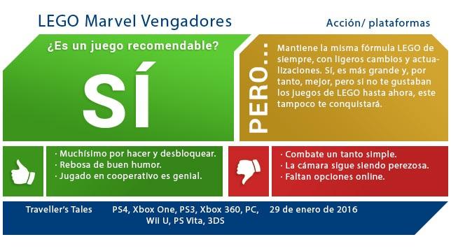 Lego Marvel Vengadores Analisis Mas Libertad Mas Superheroes Y