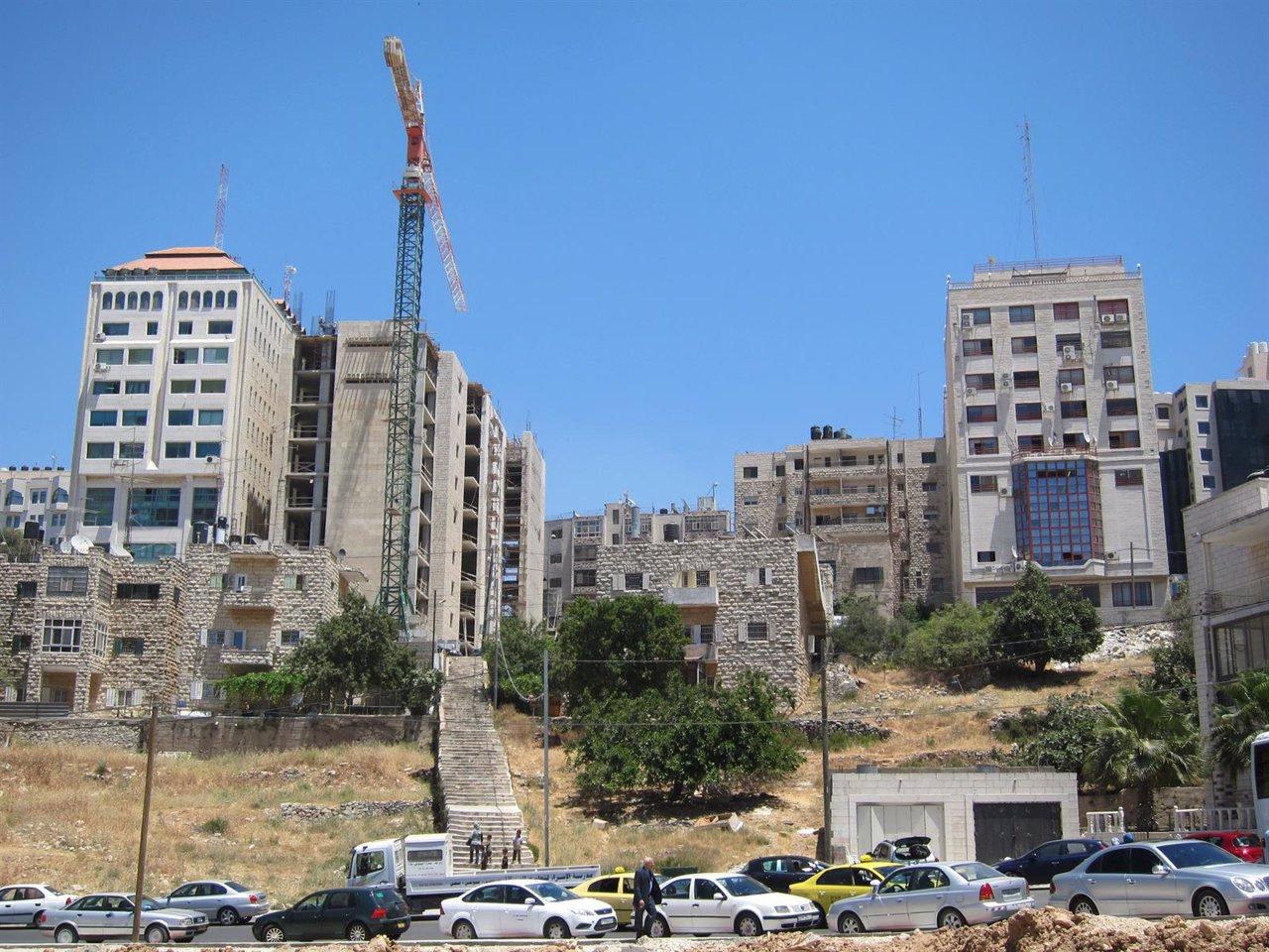 Viviendas en construcción en Ramala
