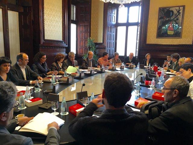 Mesa y la Junta de Portavoces del Parlament