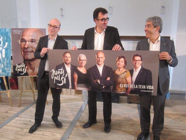 Lluís Salvadó, Oriol Soler y Francesc Homs