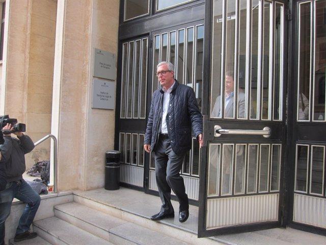 El alcalde de Tarragona Josep Fèlix Ballesteros tras declarar por el caso Inipro