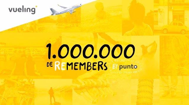 Vueling alcanza el millón de miembros Punto