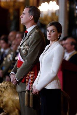Rey Felipe VI, Letizia Ortiz, Pedro Morenés, Mariano Rajoy, Pascua Militar 2016