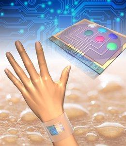 Un dispositivo que analiza los cambios en la composición del sudor