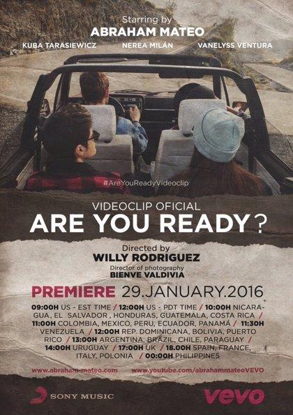 Abraham Mateo estrena nuevo videoclip: Are you ready?
