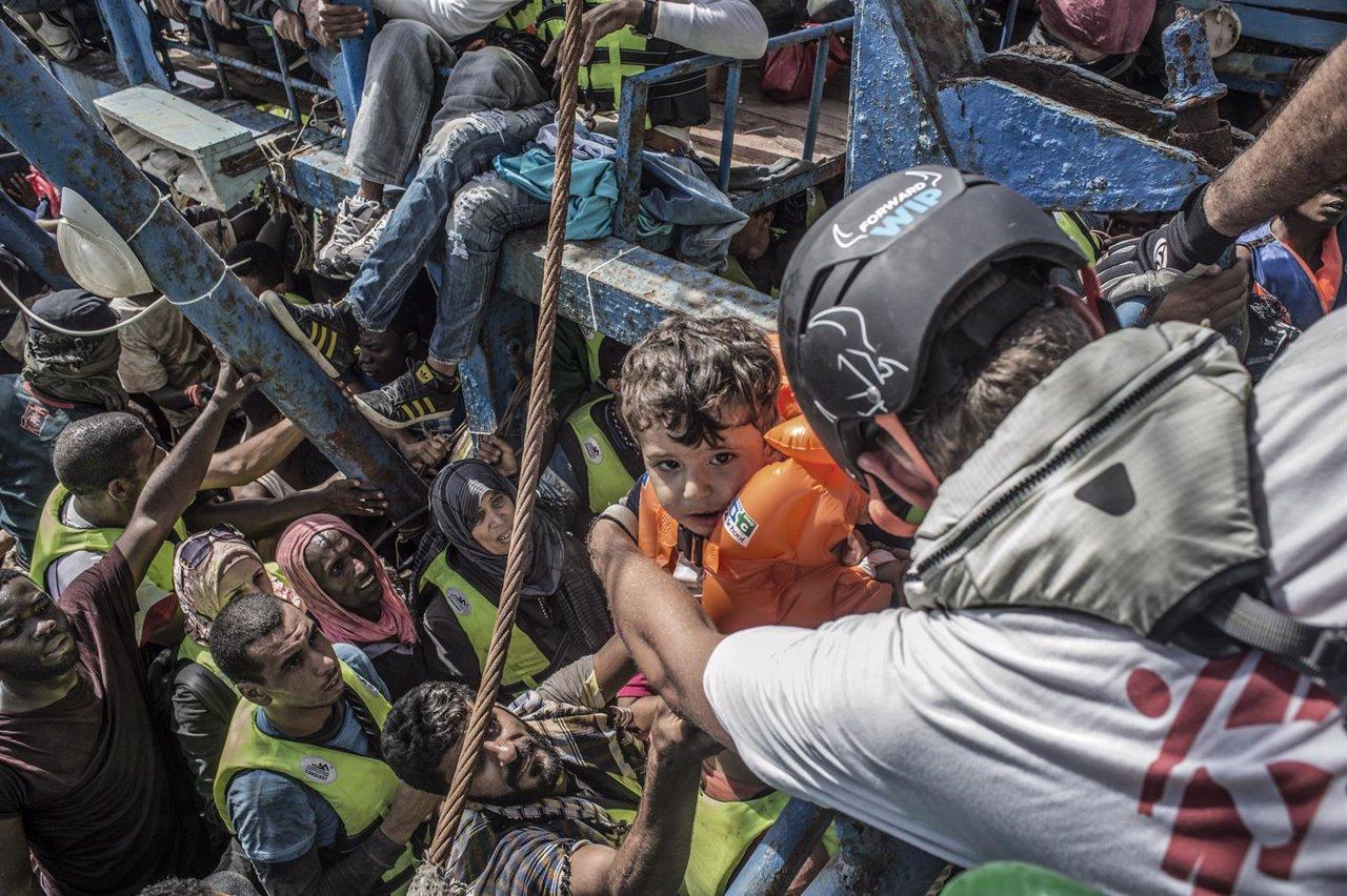Rescate de MSF en el Mediterráneo