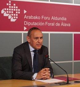 El diputado general de Álava, Ramiro González,