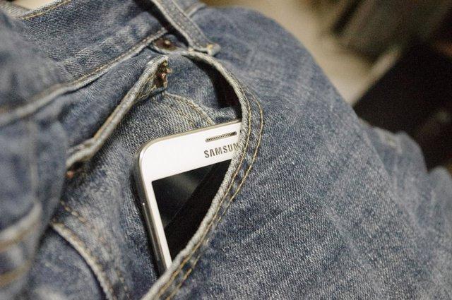 Smartphone teléfono de Samsung tecnología