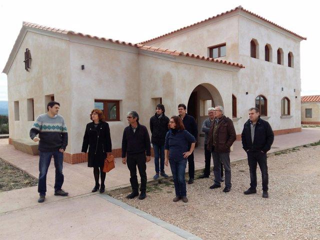 Visita al albergue de Cretas