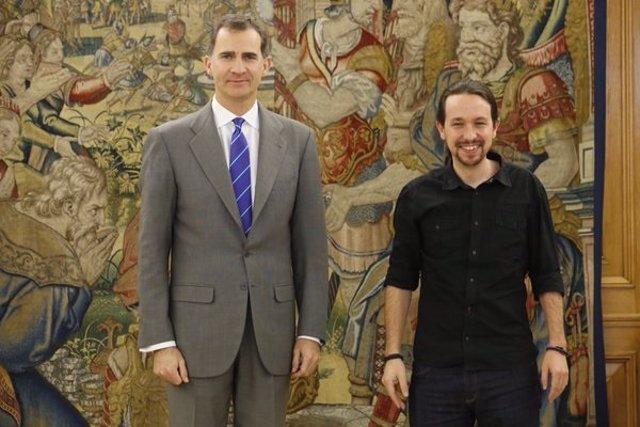 El Rey y Pablo Iglesias