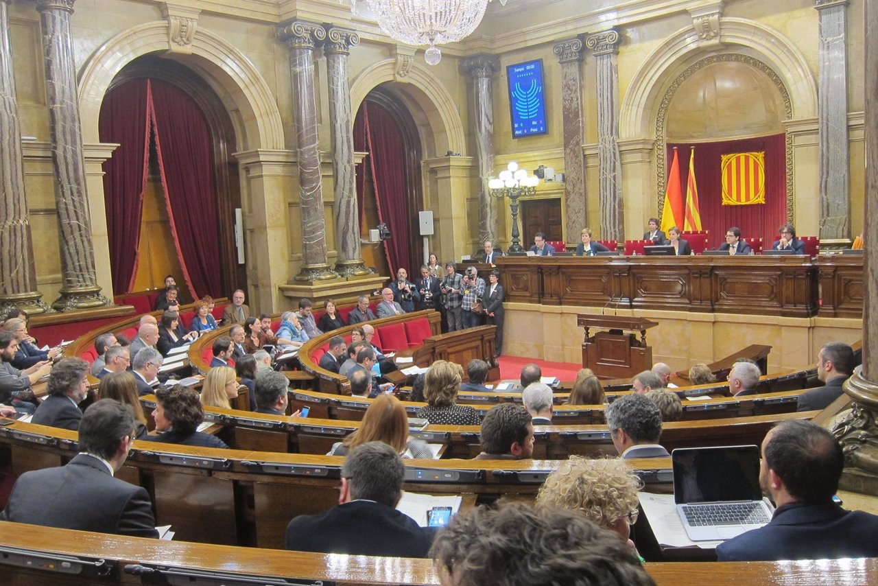 Hemiciclo del Parlament durante el pleno