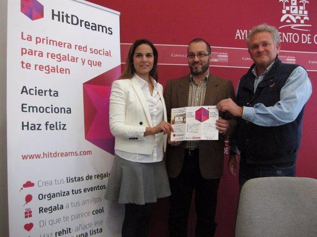 Raya, Luque y Blasco en la presentación de 'HitDreams'