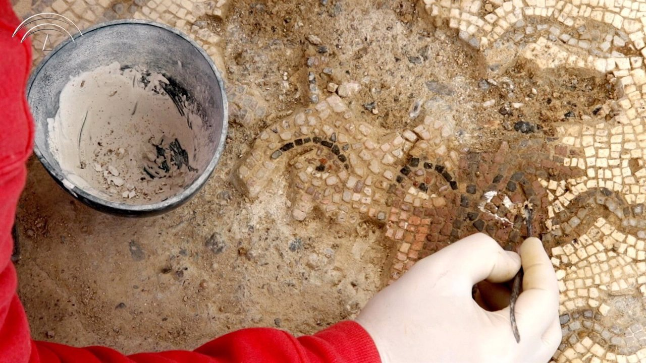 Mosaico de Medusa, en Itálica