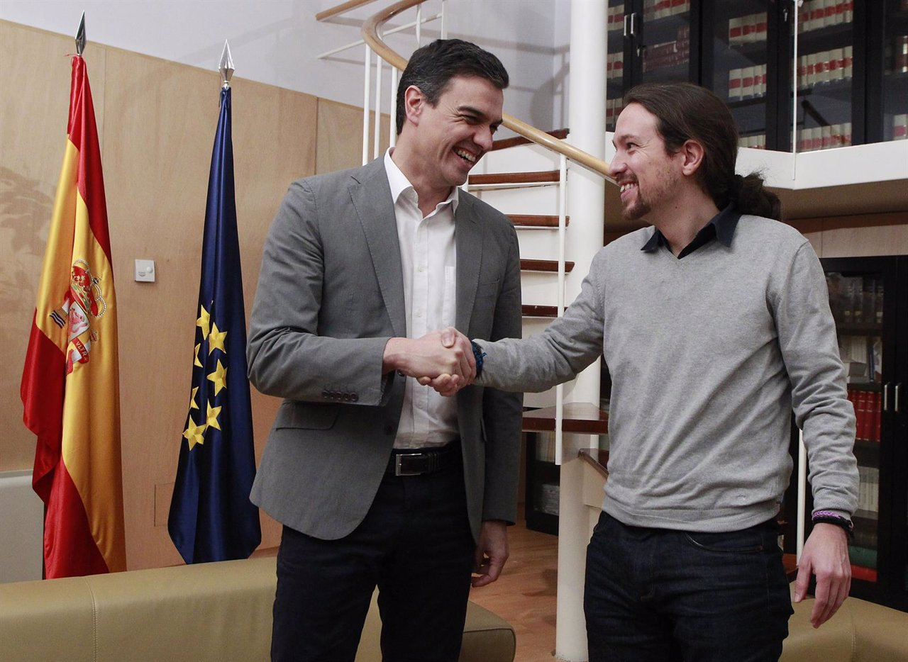 Reunión de Pedro Sánchez y Pablo Iglesias