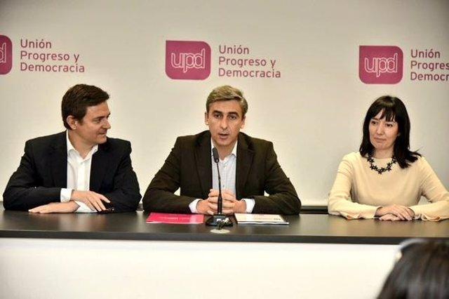 David ortega y Jaime de Berenguer en rueda de prensa
