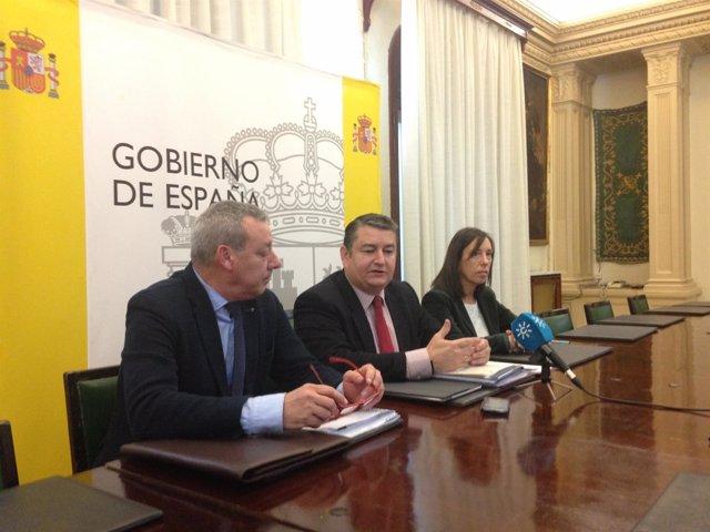 Antonio Sanz en rueda de prensa en Granada