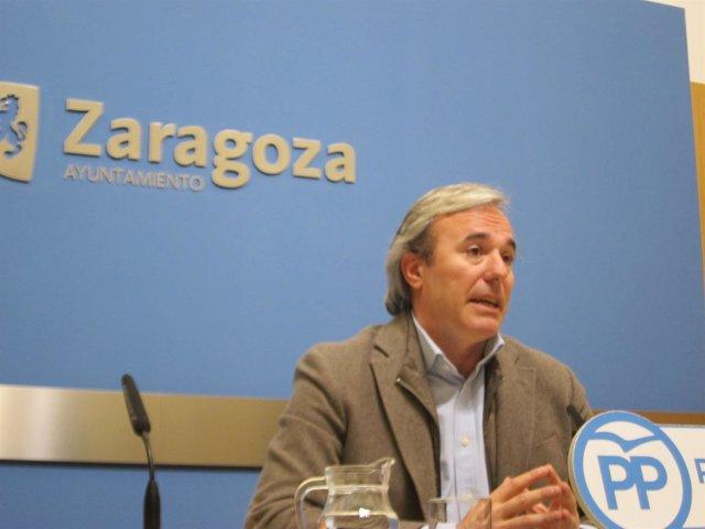 Jorge Azcón, portavoz adjunto del PP en el Ayuntamiento de Zaragoza