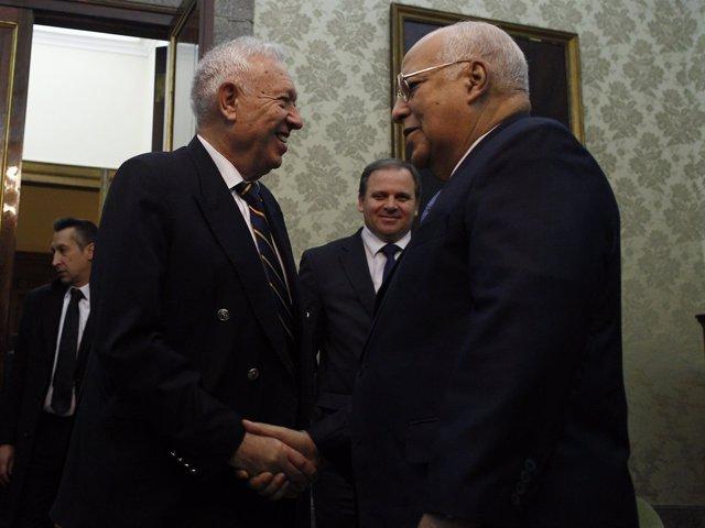 García Margallo recibe  al vicepresidente del Consejo de Ministros de Cuba