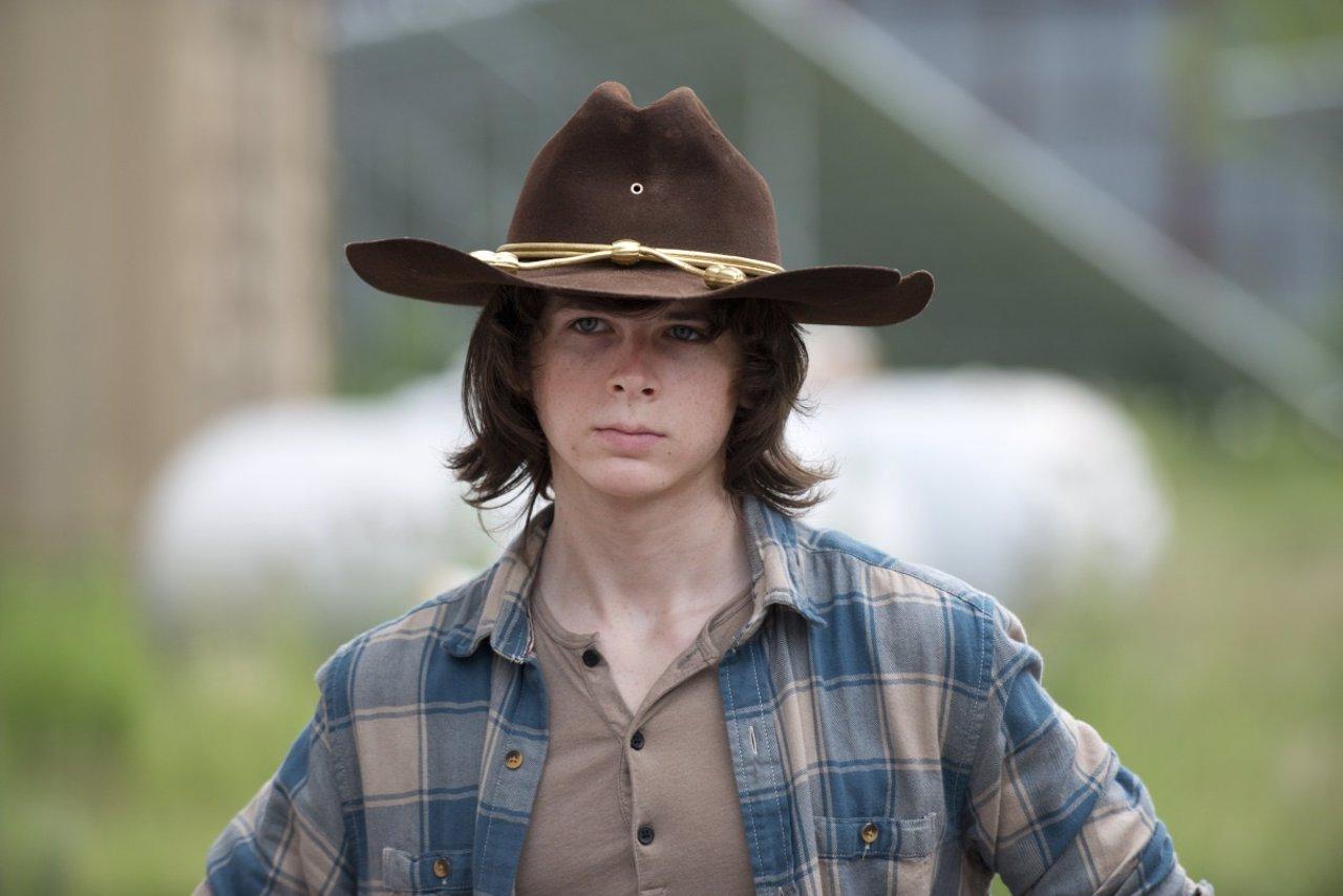 Chandler Riggs es Carl Grimes en The Walking Dead