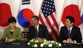 """Obama traslada a los líderes de Corea del Sur y Japón su apoyo """"inquebrantable"""""""