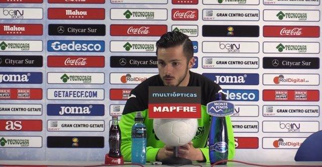 Pablo Sarabia, jugador del Getafe, en rueda de prensa