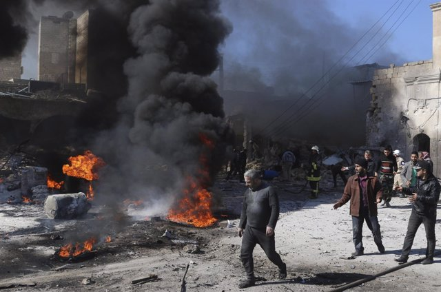Ataque con barriles bomba en Alepo