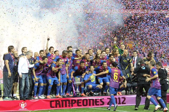 Celebracion Barcelona Copa Del Rey