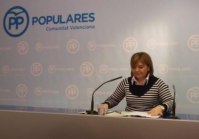 Isabel Bonig durante la rueda de prensa