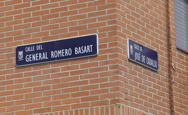 Símbolos y calles franquistas, franquismo, calle del general Romero Basart