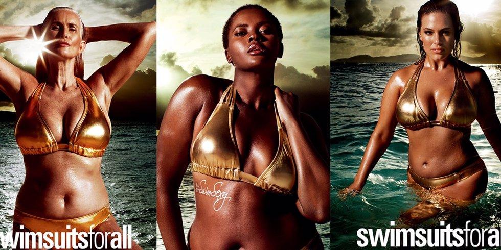 Sports Illustrated rompe moldes: modelos de tallas grandes y veteranas