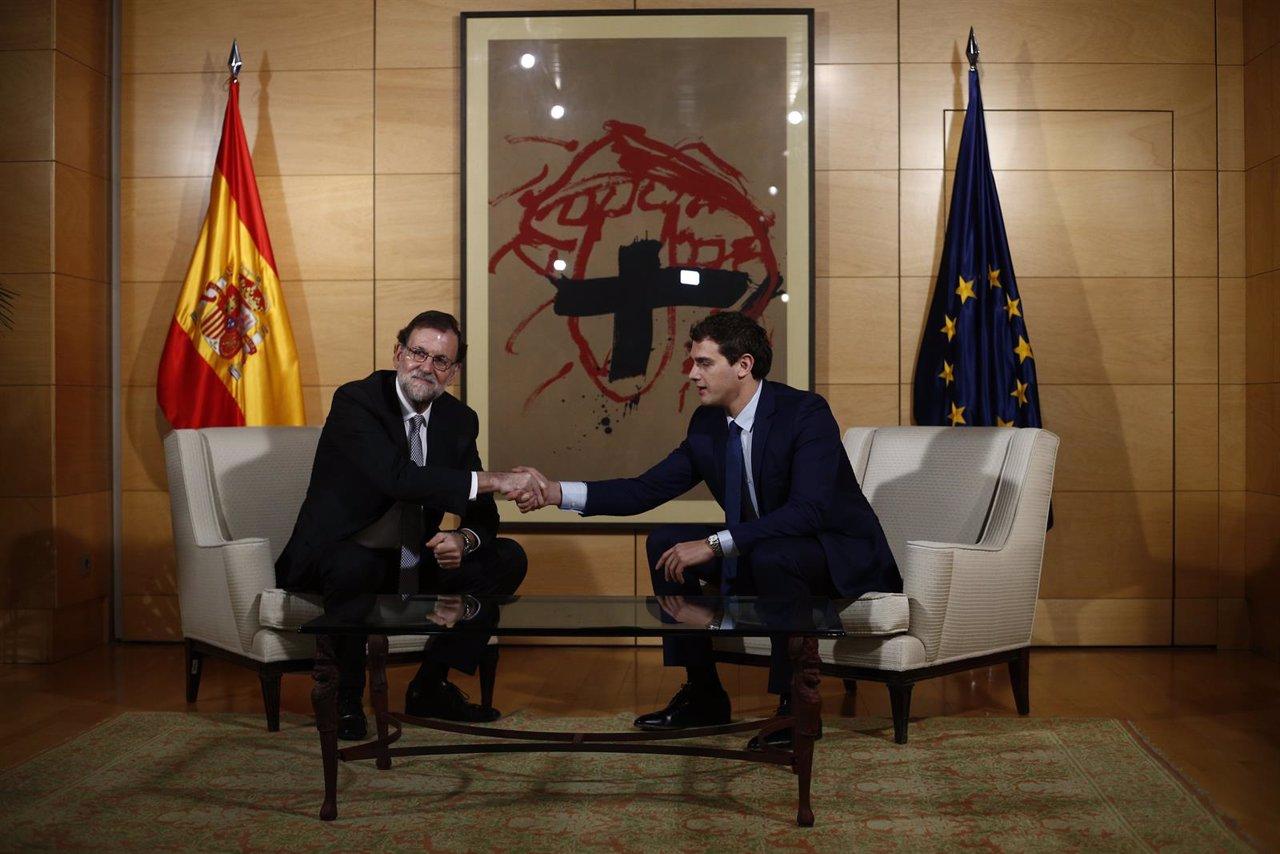 Reunión entre Albert Rivera y Rajoy en el Congreso