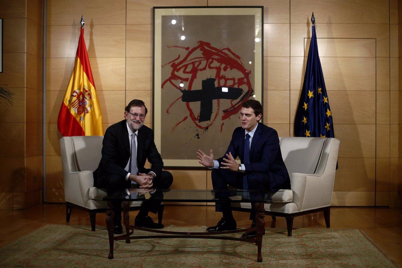 Reunión entre Albert Rivera y Rajoy