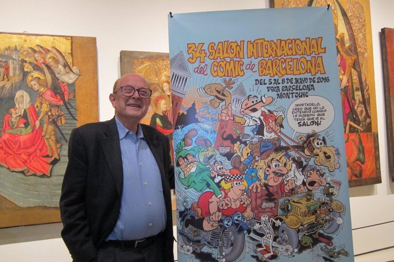 El dibujante Francisco Ibáñez en el Salón Internacional del Cómic de Barcelona