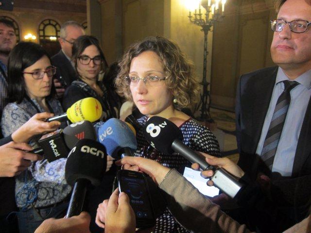 La consellera Meritxell Ruiz al Parlament