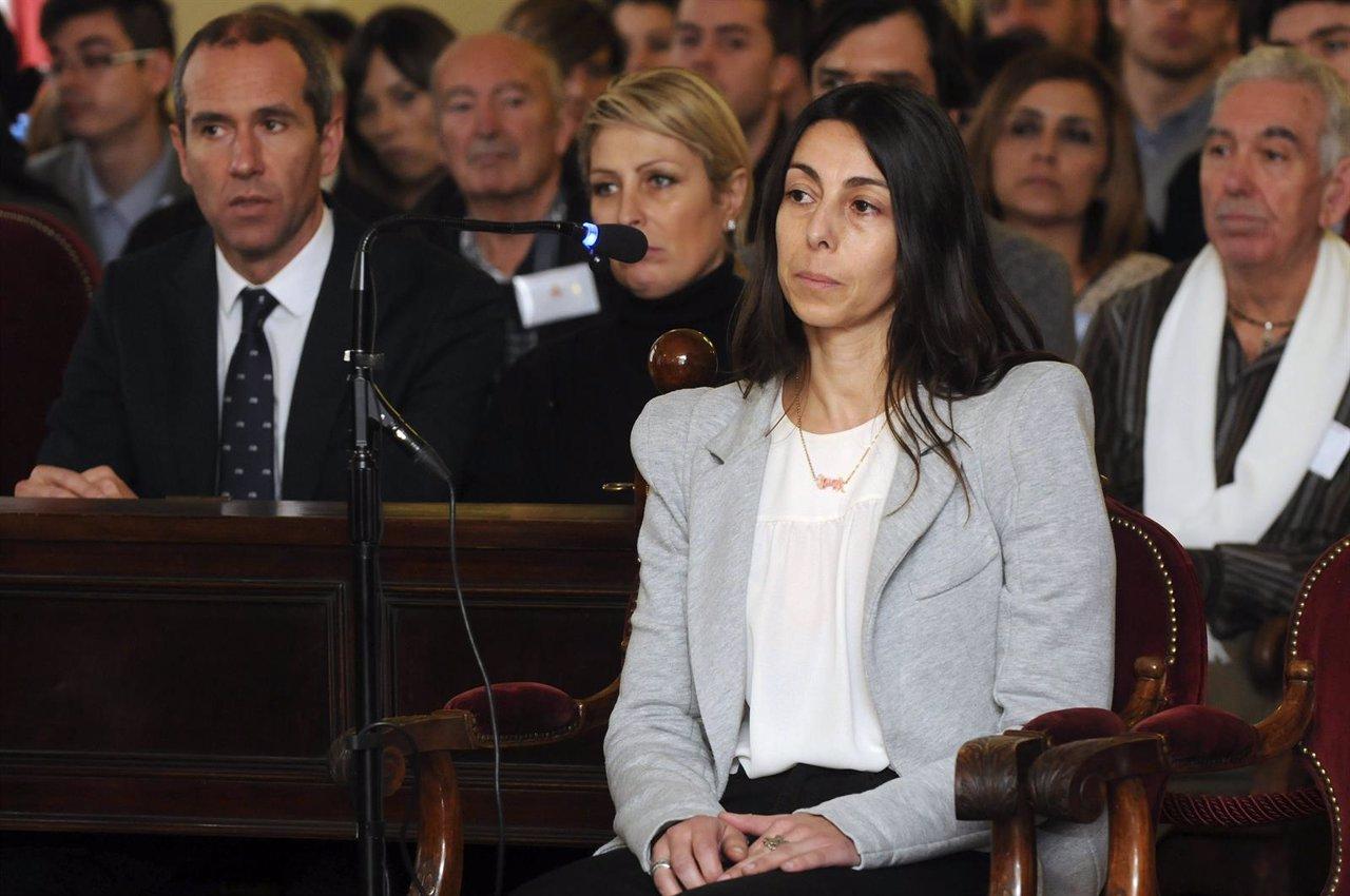 La policía local Raquel Gago durante el juicio