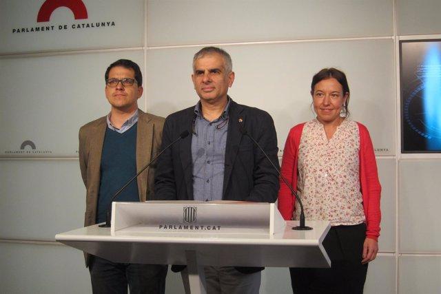 José María Espejo-Saavedra, Carlos Carrizosa y Marina Bravo, de C's