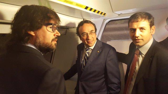 Ricard Font, Josep Rull y Xavier Flores