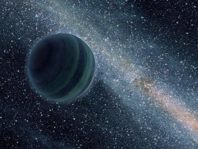 Planeta en movimiento libre