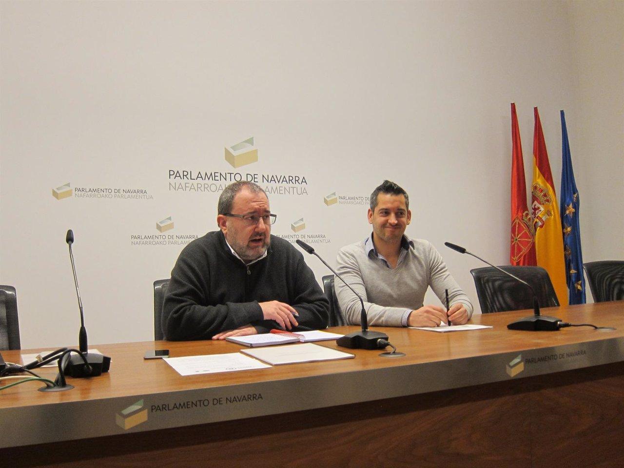 José Miguel Nuin y Joseba Eceolaza, de Izquierda-Ezkerra